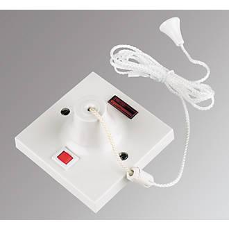 Mk 50a 1 Way Pull Cord Switch White