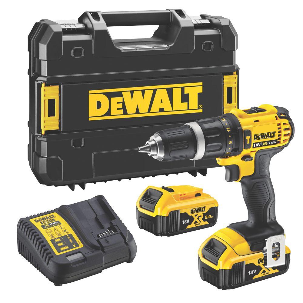 Dewalt Dcd785p2t Sfgb 18v 5 0ah Li Ion Xr Cordless Combi Hammer Drill Combi Drills Screwfix Ie