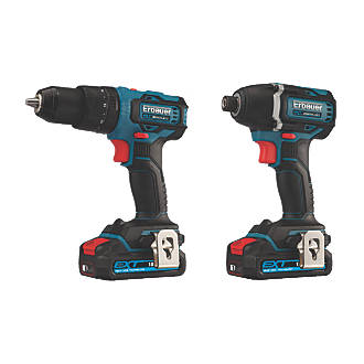 Erbauer 18V 2.0Ah Brushless Twin Pack