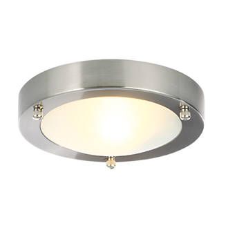 Spa Canis Round Bathroom Ceiling Light Stainless Steel Flush Ceiling Lights Screwfix Ie