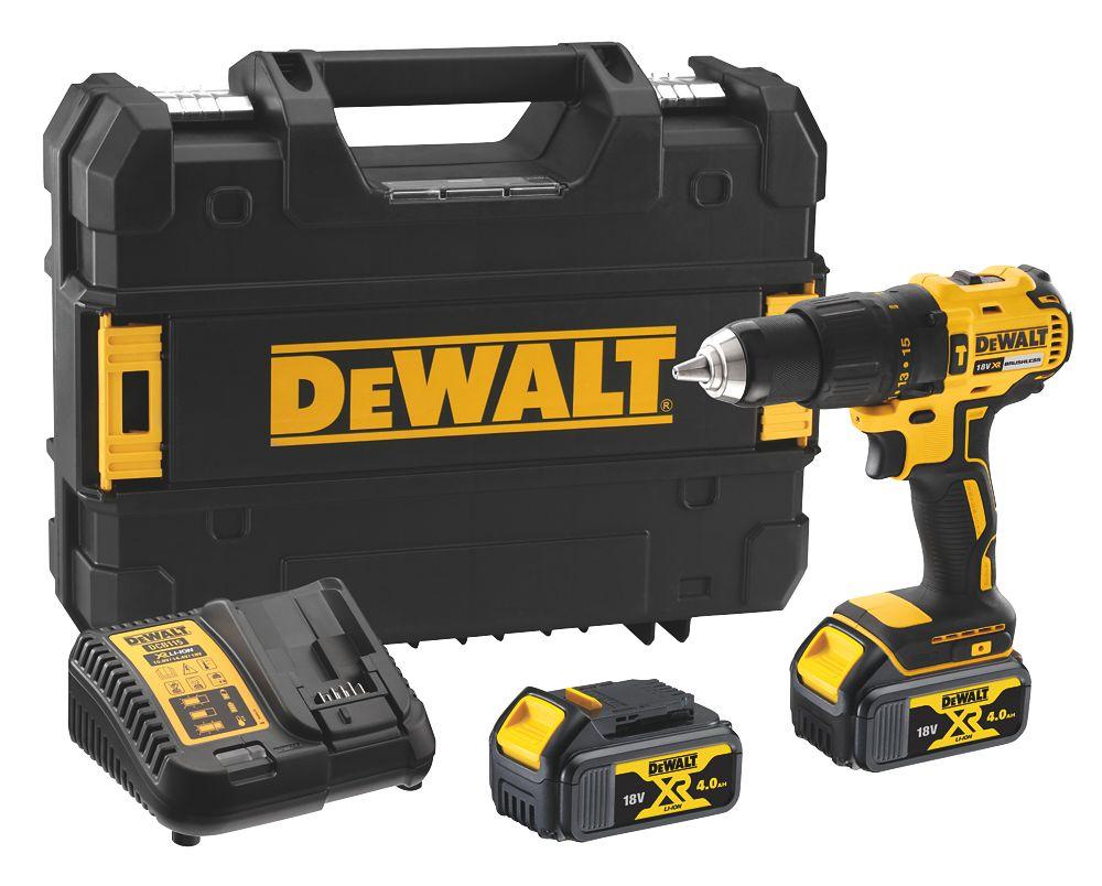 Dewalt Dcd778m2t Sfgb 18v 4 0ah Li Ion Xr Brushless Cordless Combi Drill Combi Drills Screwfix Ie