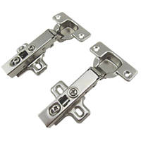 Nickel Soft-Close Clip-On Concealed Hinges 35 2 Pack