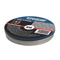 "Erbauer  Stainless Steel Cutting Discs 4½"" (115mm) x 2 x 22.2mm 10 Pack"