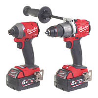 Milwaukee M18 FPP2A2-502X FUEL 18V 5.0Ah Li-Ion RedLithium Brushless Cordless Twin Pack