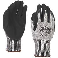 Site KF520 Cut Resistant Gloves Grey / Black Large