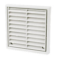 Manrose Fixed Louvre Vent White 100 x 100mm