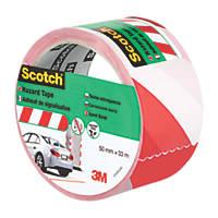 3M Hazard Tape Red / White 33m x 50mm