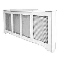 Victorian Adjustable Radiator Cabinet White 1425-1995 x 235 x 936mm