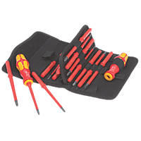 Wera Kraftform Kompakt VDE Interchangeable Screwdriver Bit Set 17 Pieces