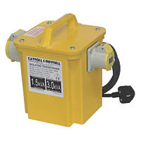 Carroll & Meynell Portable Tool Transformer with 2 Output Sockets 3kVA