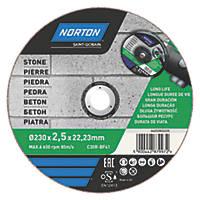 "Norton  Masonry/Stone Stone Cutting Disc 9"" (230mm) x 2.5 x 22.2mm"