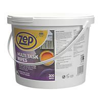 Zep Commercial Multi-Task Wipes White 300 Pack