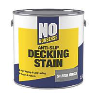 No Nonsense Anti-Slip Quick-Drying Decking Stain Silver Birch 2.5Ltr