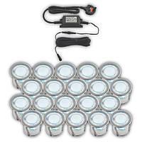 LAP Coldstrip LED Recessed Deck Light Kit Blue 30mm 20 Pack