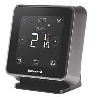Honeywell Home T6R-HW Wireless Programmable Thermostat with Hot Water Control Black