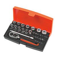 "Bahco SL25 1/4"" Drive Socket Set 25 Pcs"