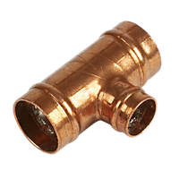 Yorkshire  Copper Solder Ring Reducing Tee 22 x 22 x 15mm