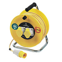 Masterplug 16A 2-Gang 50m  Cable Reel 110V