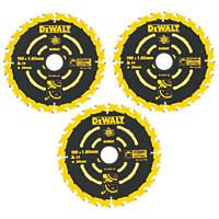 DeWalt Extreme Circular Saw Blades 190 x 30mm 24T 3 Pack