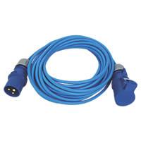 Carroll & Meynell 230-240V Extension Lead Blue 1.5mm x 14m