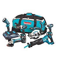 Makita DLX6072PT 18V 5.0Ah Li-Ion LXT Cordless 6 Piece Kit