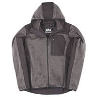 "Site Rowan Softshell Knitted Hoodie Dark Grey / Black Medium 38-40"" Chest"