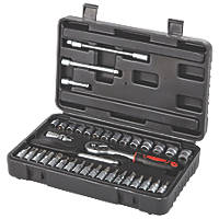 "1/4"" Drive Standard Socket Set  38 Pieces"