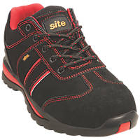 Site Coltan   Safety Trainers Black / Red Size 10