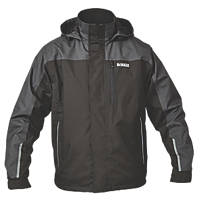 "DeWalt Storm Waterproof Jacket Black / Grey Medium 39-41"" Chest"