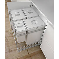 Hafele Pull-Out Kitchen Bin Grey 78Ltr