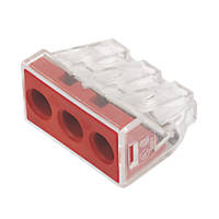 Wago  41A 3-Way Push-Wire Connector 50 Pack