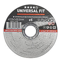"Metal Cutting Disc 4½"" (115mm) x 1 x 22.2mm 5 Pack"
