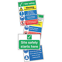 """Site Safety"" Signs Start Up Pack  x"