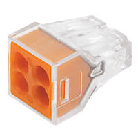 Wago  24A 4-Way Push-Wire Connector 100 Pack