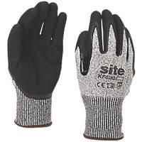 Site KF520 Cut Resistant Gloves Grey / Black Medium