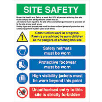 Site Safety Sign 800 x 600mm
