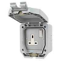 LAP  IP66 13A 1-Gang DP Weatherproof Outdoor Switched Socket