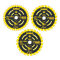 DeWalt Extreme Circular Saw Blade 165 x 20mm 24/40T 3 Pack