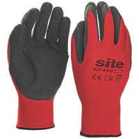 Site KF440 Superlight Latex Gripper Gloves Red / Black X Large