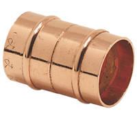 Yorkshire  Copper Solder Ring Equal Couplers 22mm 2 Pack
