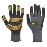 Stanley Razor Tread Gripper Gloves Grey Large