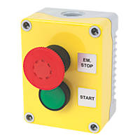 Hylec 1DE.02.01AG-SF Red & Green Push-Button Isolator Switch