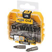 DeWalt PZ Screwdriver Bit Box PZ2 x 25mm 25 Pack