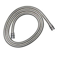 Croydex Shower Hose Chrome 11mm x 1.5m