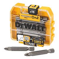 DeWalt Screwdriver Bit Box PZ2 x 50mm 15 Pack
