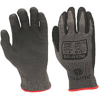 Tilsatec 55-5120 Foam Nitrile Gloves Grey / Black Large