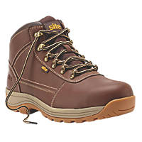 Site Amethyst   Safety Boots Brown Size 8