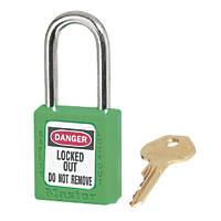Master Lock Loto Safety Lock-Off Padlock Green 20 x 38mm