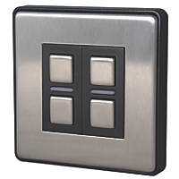 Lightwave  2-Gang 2-Way LED Generation 2 Smart Dimmer Switch Brushed Stainless Steel
