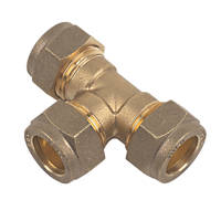 Compression Equal Tees 15mm 10 Pack